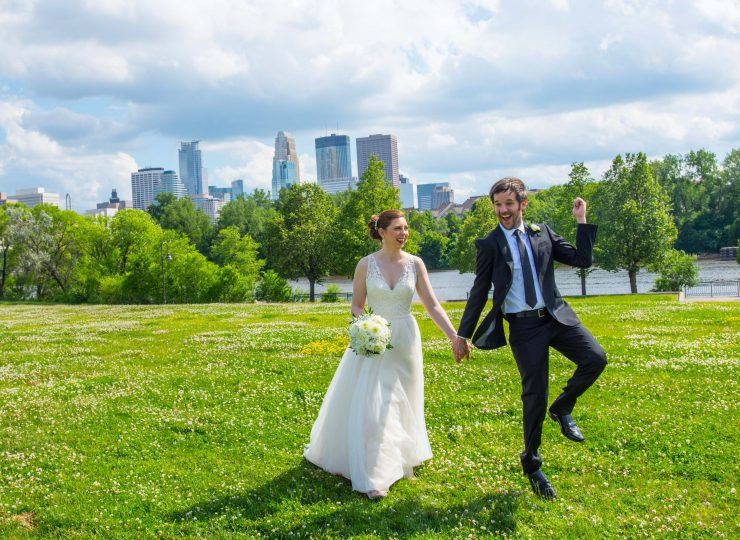 Minneapolis Skyline Wedding Photo | Coppersmith Photography