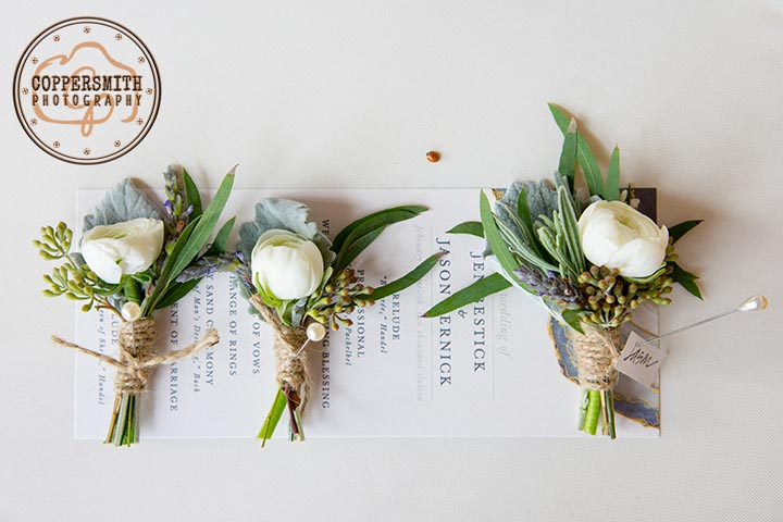 wedding flowers and invitation photography