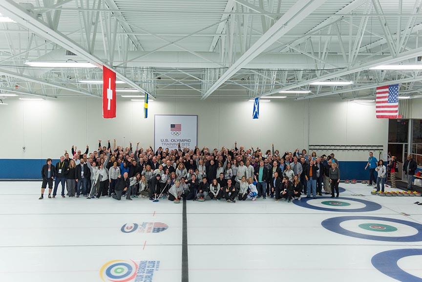 corporate event team building photography minnesota curling